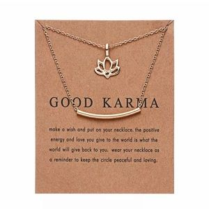 GOOD KARMA NECKLACE ON CARD STOCK WITH NECKLACE